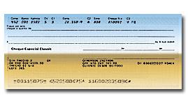 Imagem de uma folha de cheque
